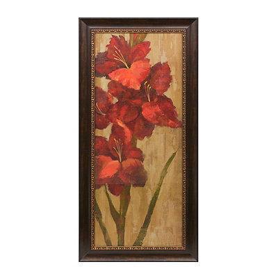 Vivid Red Flowers I Framed Art Print