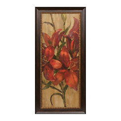 Vivid Red Flowers II Framed Art Print