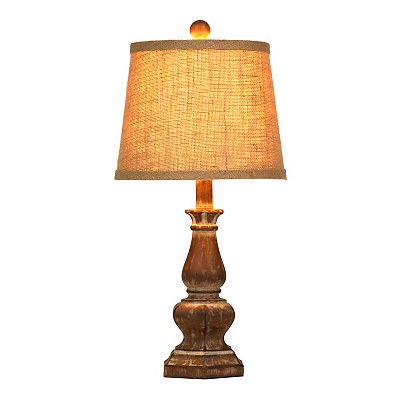 Rustic Brown Table Lamp