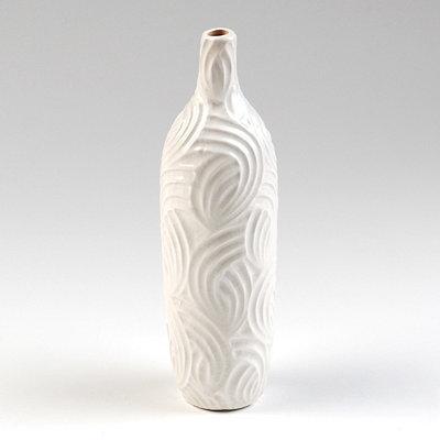 White Autumn Swirl Ceramic Vase