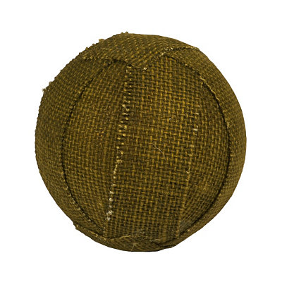 Green Fall Burlap Orb