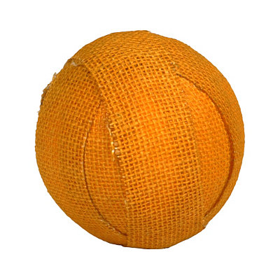 Yellow Fall Burlap Orb