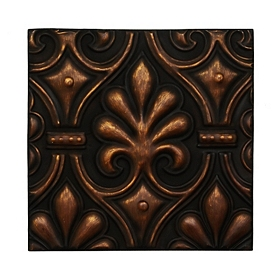 Bronze Leaf Metal Tile