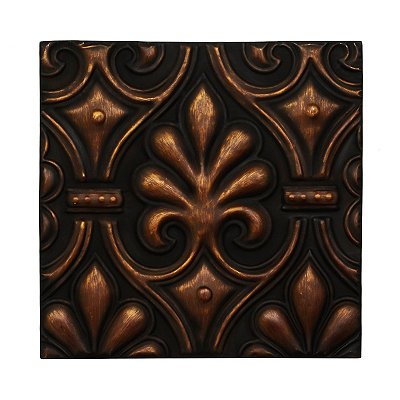Bronze Leaf Metal Tile