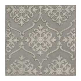 Gray Rosette Metal Tile
