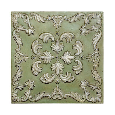 Distressed Sea Green Metal Tile