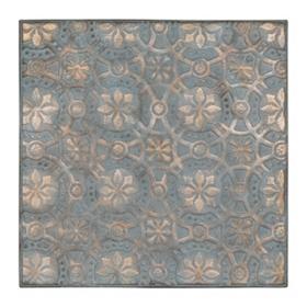 Turquoise Kaleidoscope Metal Tile