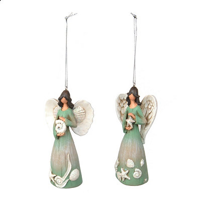 Coastal Angel Ornaments, Set of 2