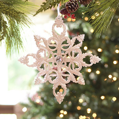 Champagne Jeweled Medallion Ornament