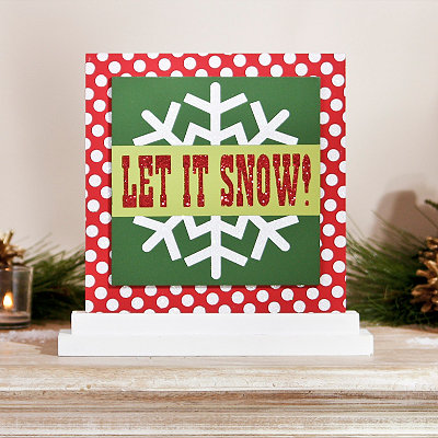 Let It Snow Tabletop Sign