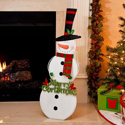 Top Hat Snowman Easel