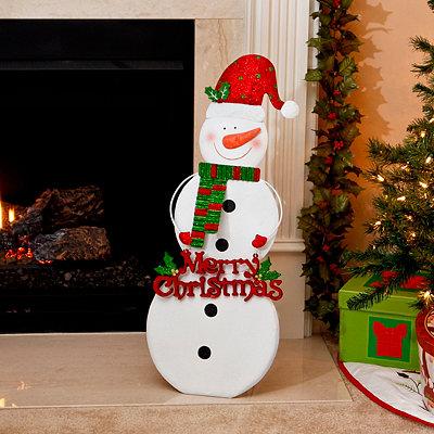 Santa Hat Snowman Easel