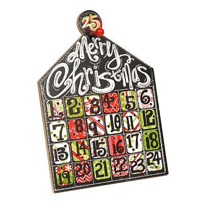 Merry Christmas Countdown Calendar Easel