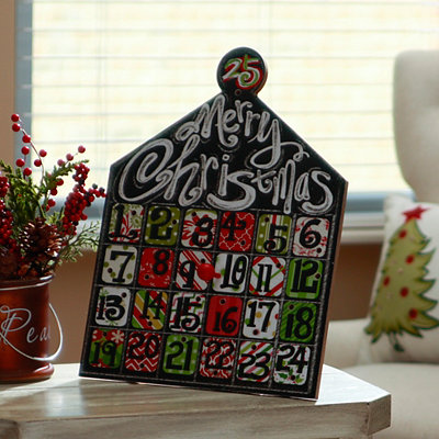 Merry Christmas Countdown Calendar Easel