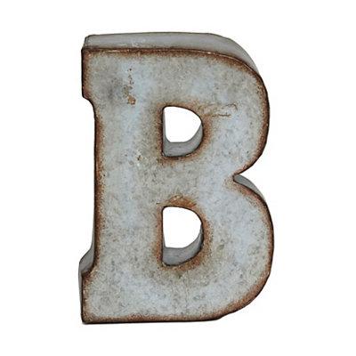 Monogram Galvanized B Statue