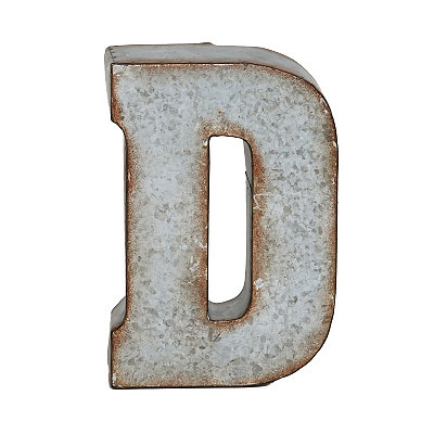 Monogram Galvanized D Statue
