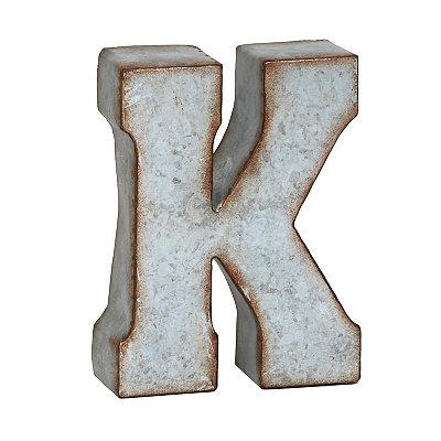 Monogram Galvanized K Statue
