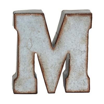 Monogram Galvanized M Statue