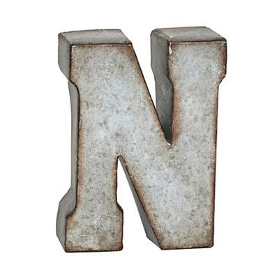Monogram Galvanized N Statue