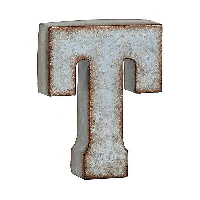 Monogram Galvanized T Statue