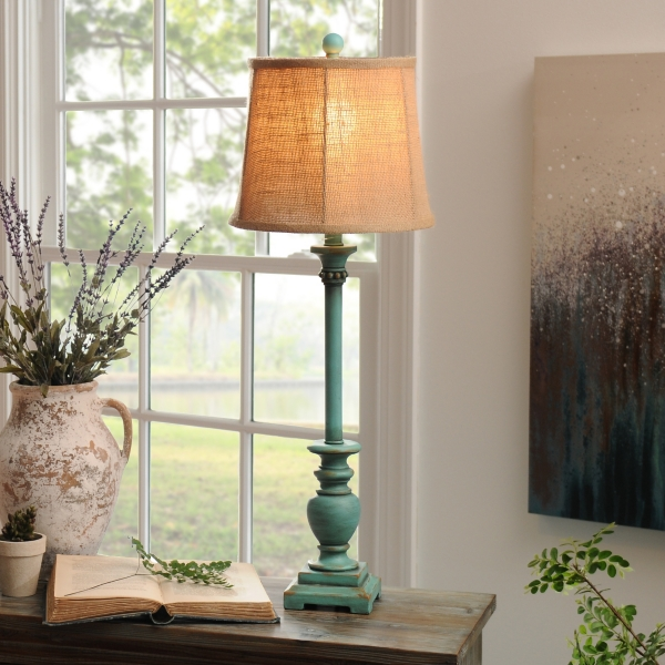 Rustic Turquoise Classic Buffet Lamp