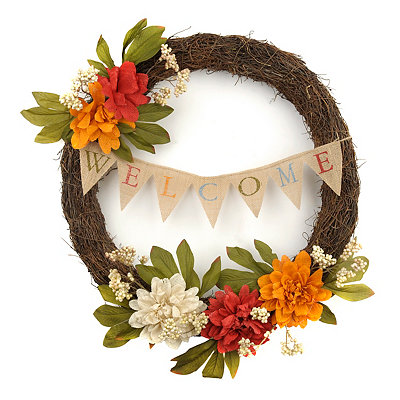 Dahlia Fall Welcome Wreath