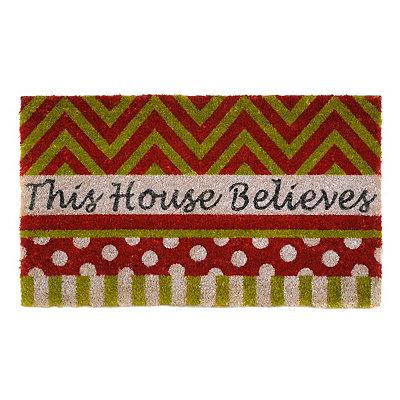 This House Believes Christmas Doormat