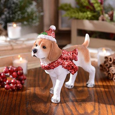 Christmas Paws Beagle Statue
