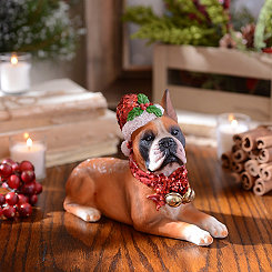 Christmas Paws Boxer Statue