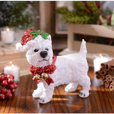 Christmas Paws Westie Statue