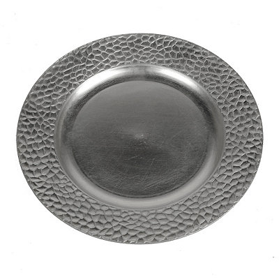 Silver Pebble Charger