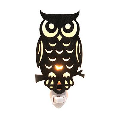Metal Cutout Owl Night Light