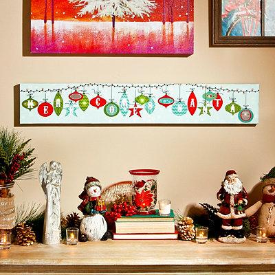 Here Comes Santa LED Canvas Art Print