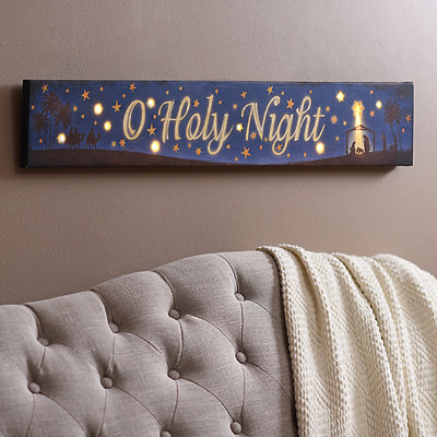 O Holy Night LED Canvas Art Print