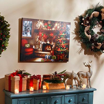 Christmas Cheer LED Canvas Art Print