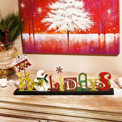 Happy Holidays Tabletop Plaque