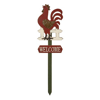 Country Rooster Lawn Stake