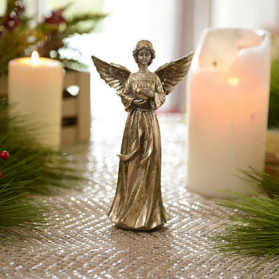 Gold Praying Angel Statue