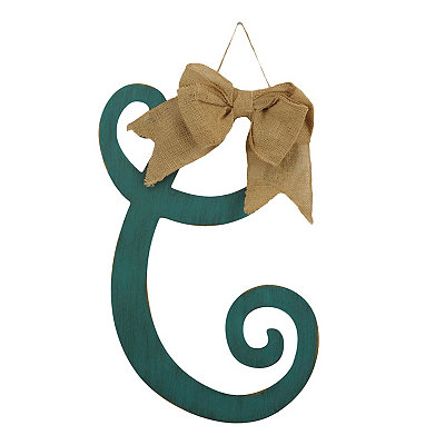 Antique Teal Monogram C Plaque
