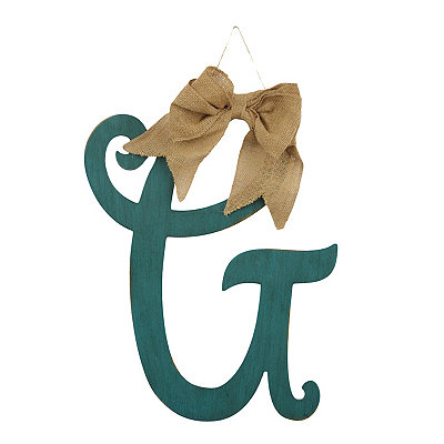 Antique Teal Monogram G Plaque