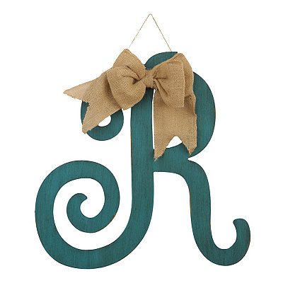 Antique Teal Monogram R Plaque