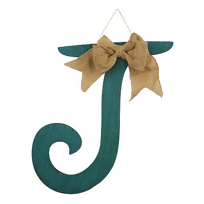 Antique Teal Monogram J Plaque
