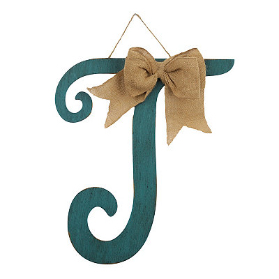 Antique Teal Monogram T Plaque
