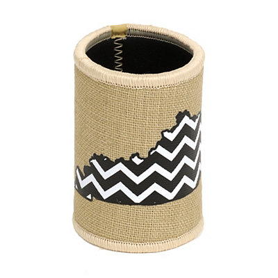 Burlap Chevron Kentucky Koozie