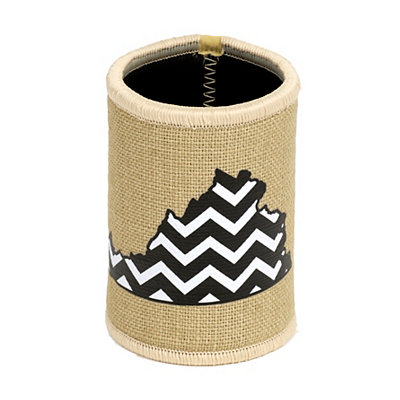 Burlap Chevron Virginia Koozie