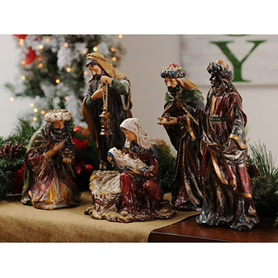 Old World Nativity Statues, Set of 5