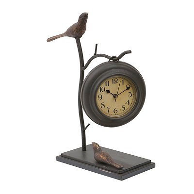 Birds on Branches Tabletop Clock