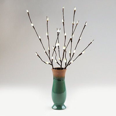 LED Willow Branch with Vase