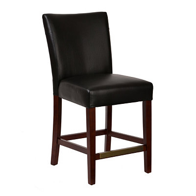 Oliver Black Faux Leather Dining Chair