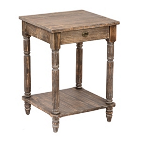 Rustic Natural Accent Table